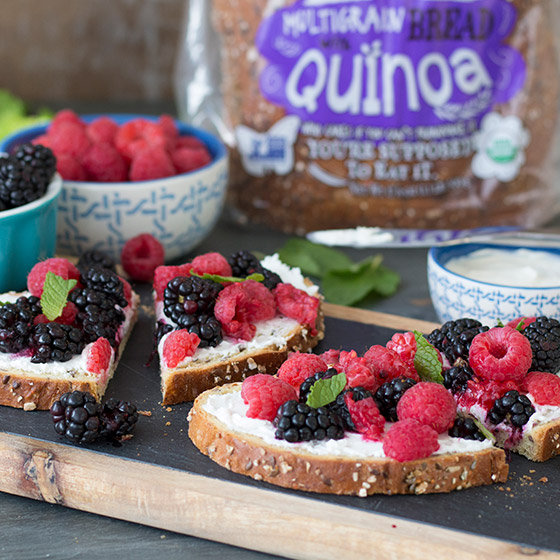 Smashin' Berry & Goat Cheese Toasts