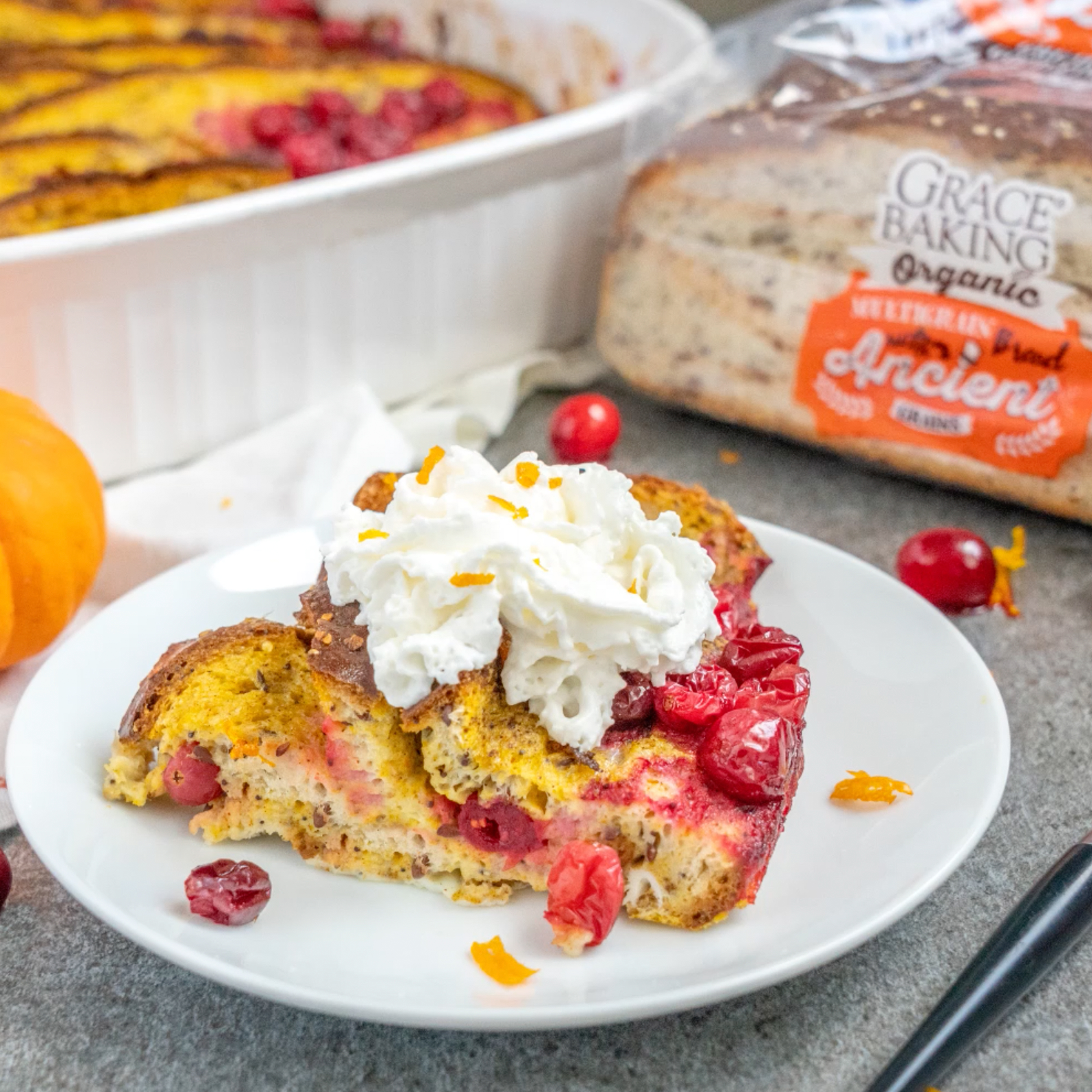 Baked Cran-Pumpkin French Toast