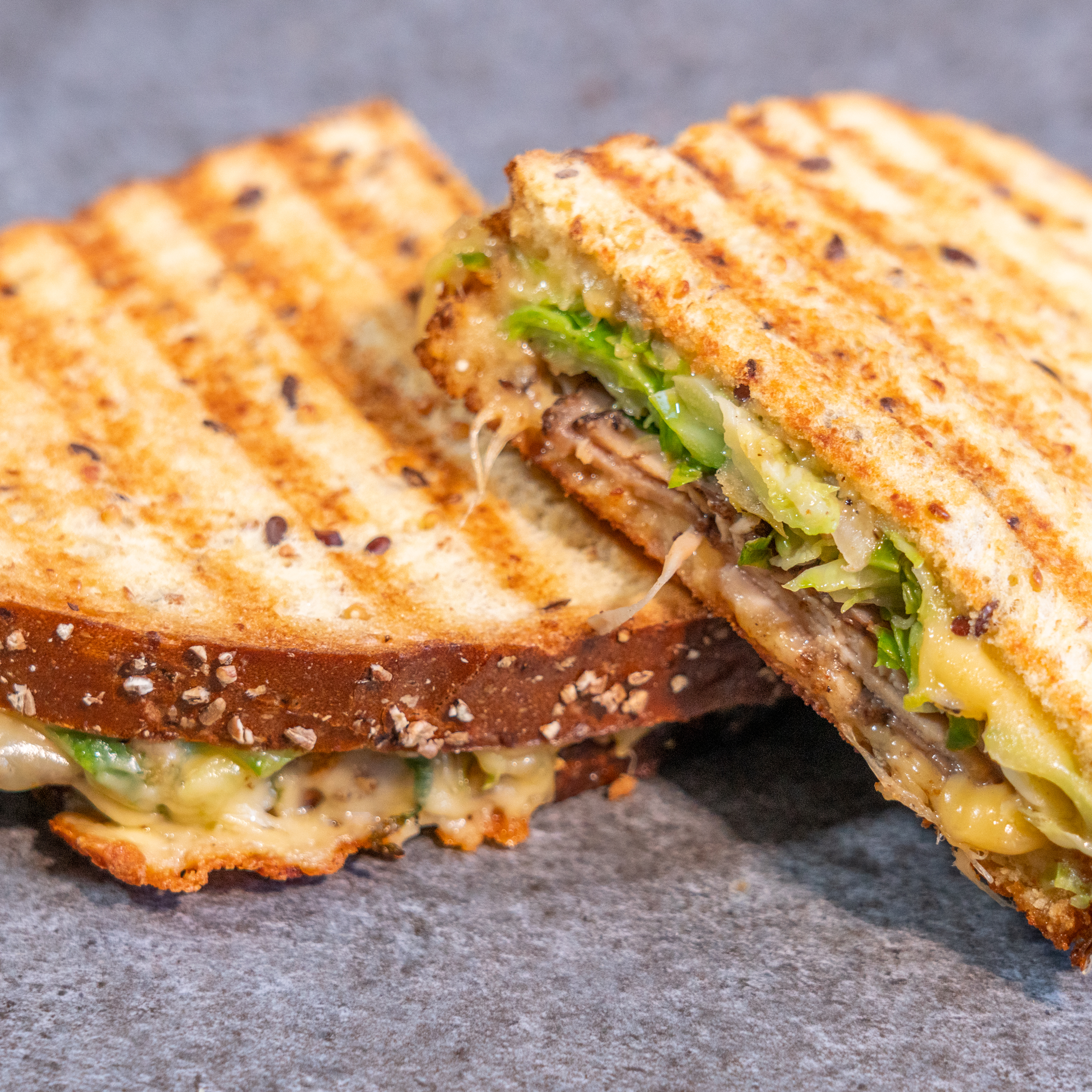 Pastrami & Brussels Sprouts Panini