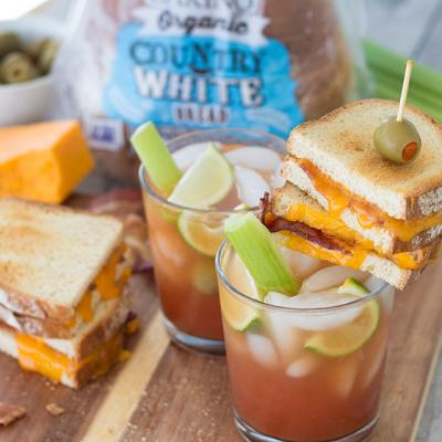 Bloody Mary with Grilled Cheese Topper